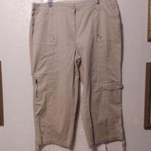 Style & Co. Cargo Capri Womens Size 16W